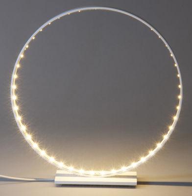 Luminaire - Lampes de table - Lampe de table Micro / LED - Ø 30 cm - Le Deun - Blanc - Acier, Aluminium