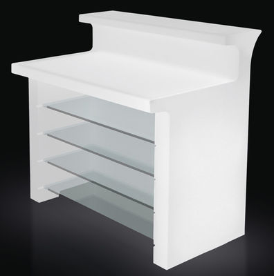 Furniture - High Tables - Break Line Luminous bar - W 120 cm by Slide - White - recyclable polyethylene