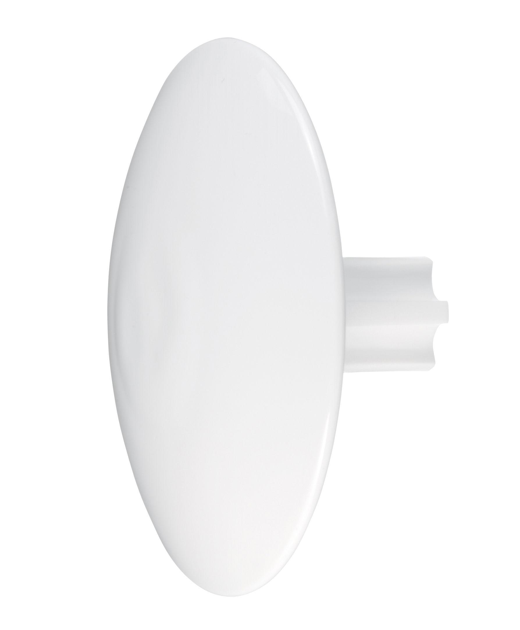 Mobilier - Portemanteaux, patères & portants - Patère Spot - Koziol - Blanc opaque - Plastique