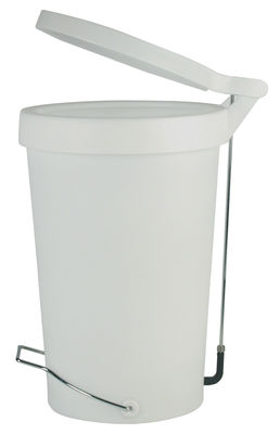 Kitchenware - Bins - Tip Pedal bin - 30 Litres - With pedal by Authentics - White-grey - Chromed metal, Polypropylene