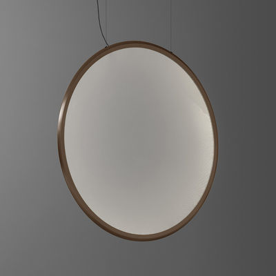 Lighting - Pendant Lighting - Discovery Vertical LED Pendant - / Ø 140 cm - Connected smartphone app by Artemide - Bronze / Transparent - Aluminium, PMMA