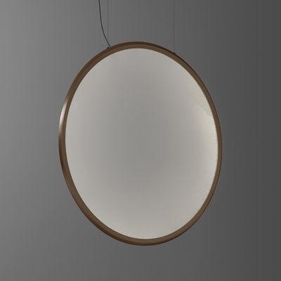 Leuchten - Pendelleuchten - Discovery Vertical LED Pendelleuchte / Ø 140 cm - Steuerbar über Smartphone-App - Artemide - Bronze / Transparent - Aluminium, PMMA
