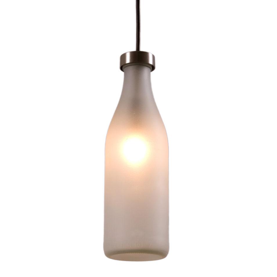 Leuchten - Pendelleuchten - Milk Bottle Pendelleuchte - droog - Durchscheinend / 1 Flasche - Glas