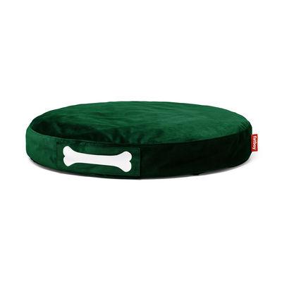 Pouf Doggielounge velvet / Ø 100 cm - Velours - Fatboy Ø 100 x H 15 cm vert émeraude en tissu