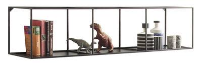 Möbel - Regale und Bücherregale - Slim Irony Regal / L 124 cm - Zeus - Schwarzbraun - Stahl