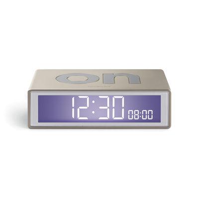 Accessoires - Réveils et radios - Réveil LCD Flip + Travel / Mini réveil réversible de voyage - Lexon - Aluminium brillant - ABS, Gomme