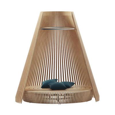 Outdoor - Sun Loungers & Hammocks - Hut Round sofa - / Ø 300 x H 320 cm - Larch by Ethimo - Larch - Aluminium, Siberian larch FSC