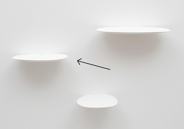 Arredamento - Scaffali e librerie - Scaffale Isola Medium - / Ceramica - L 22 cm di Moustache - L 22 cm / Bianco - Ceramica smaltata