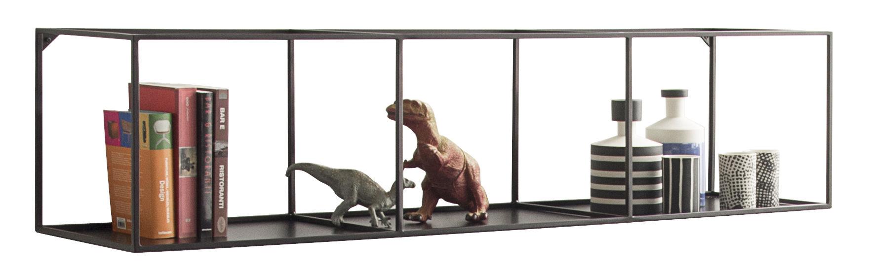 Arredamento - Scaffali e librerie - Scaffale Slim Irony - / L 124 cm di Zeus - Nero ramato - Acciaio