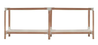 Arredamento - Scaffali e librerie - Scaffale Steelwood di Magis - Bianco / faggio - L 181 cm - Acciaio verniciato, Faggio, MDF verniciato