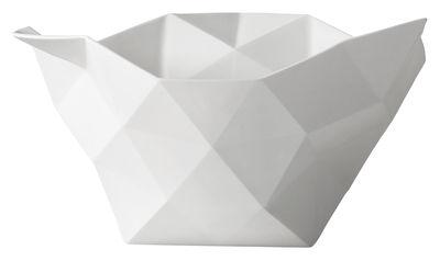 Tischkultur - Salatschüsseln und Schalen - Crushed Schale Groß - Muuto - Groß - Weiß - chinesisches Weich-Porzellan