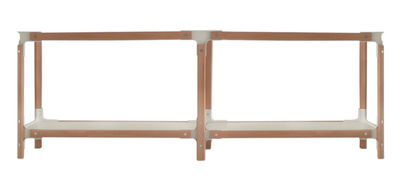 Furniture - Bookcases & Bookshelves - Steelwood Shelf - H 54 cm by Magis - White / beech - L 181 cm - Beechwood, Varnished MDF, Varnished steel