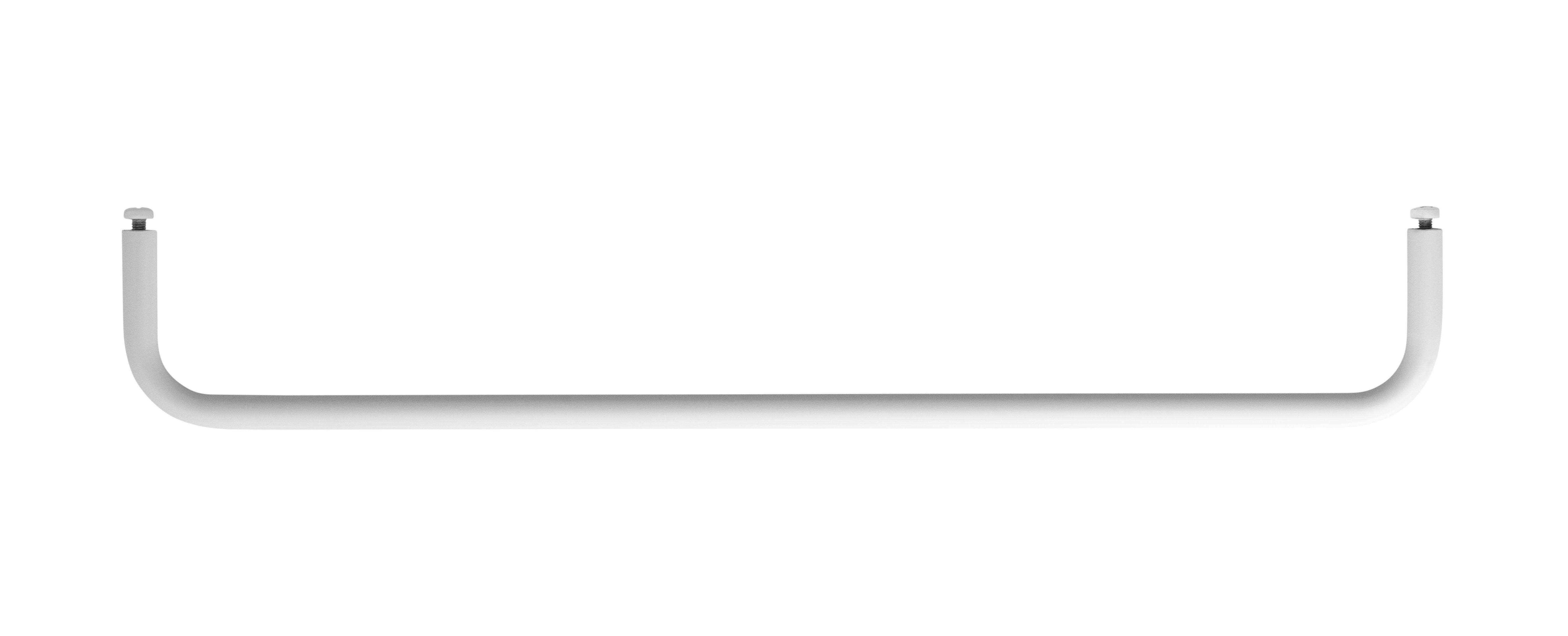 Arredamento - Scaffali e librerie - Sospensione bar Medium - / L 58 cm - Per mensole in metallo traforato di String Furniture - L 58 cm / Bianco - metallo laccato