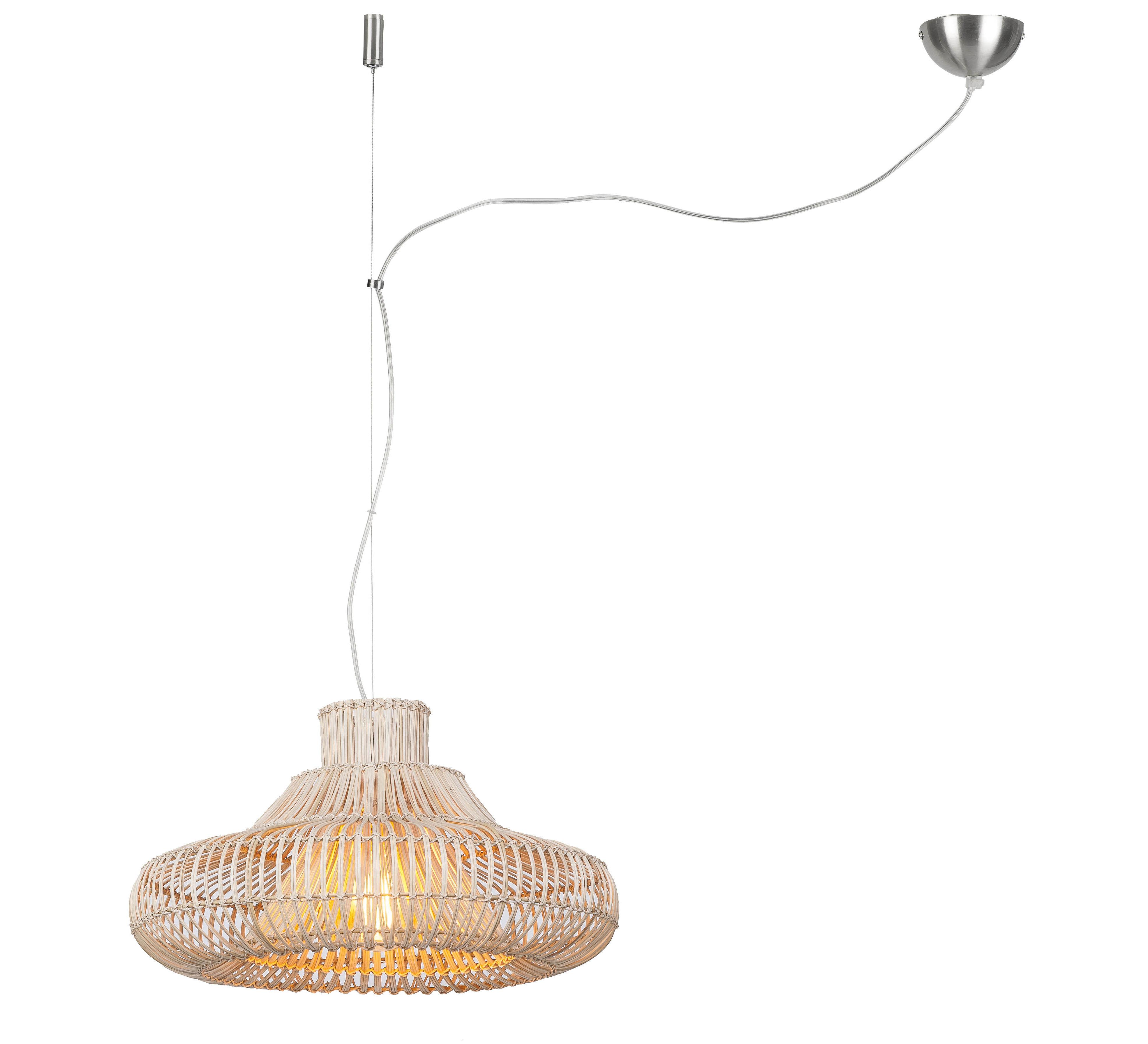 Illuminazione - Lampadari - Sospensione Kalahari Small - / Bambù - Ø 45 cm di GOOD&MOJO - Ø 45 cm / Rattan - Midollino