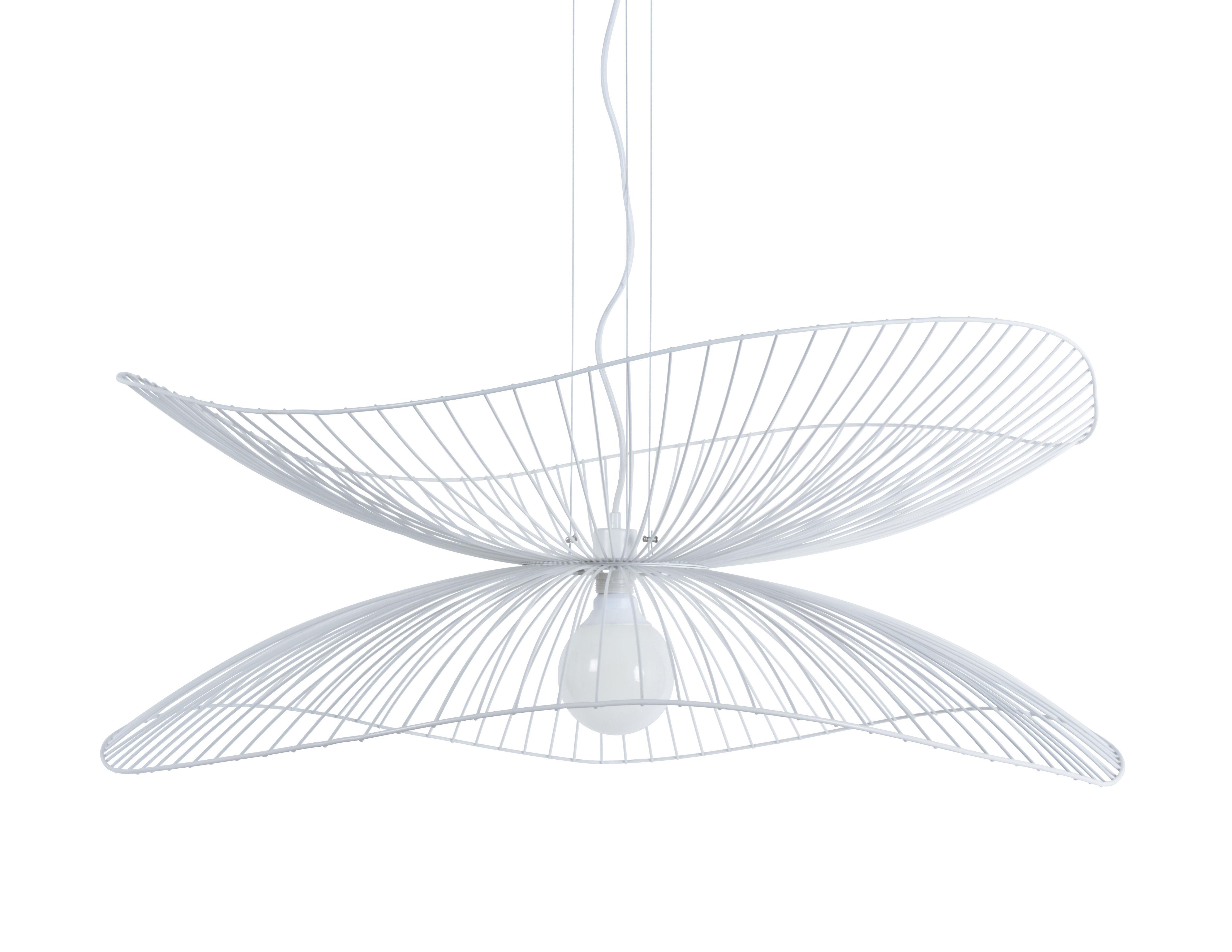 Illuminazione - Lampadari - Sospensione Libellule Large - / Ø 100 x H 40 cm di Forestier - Bianco - Fils de fer laqués