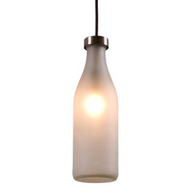 Illuminazione - Lampadari - Sospensione Milk Bottle di droog - Traslucido / 1 bottiglia - Vetro