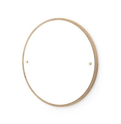 Interni - Specchi - Specchio murale CM-1 Circle - / Ø 45 cm - Rovere di Frama  - Rovere - Rovere massello