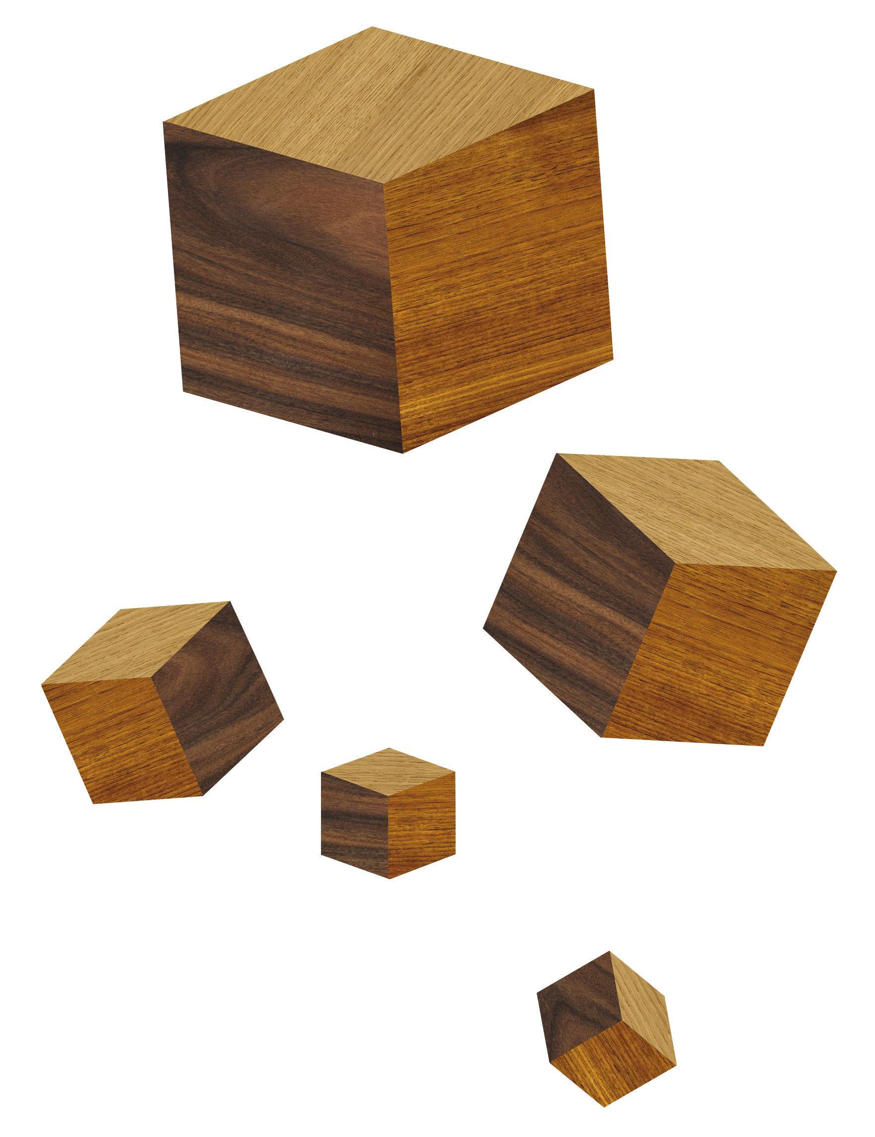 Dekoration - Stickers und Tapeten - Touche du bois/cubes Sticker - Domestic - Holz - Vinyl