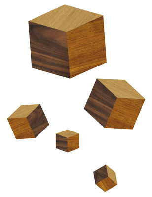 Decoration - Wallpaper & Wall Stickers - Touche du bois/cubes Sticker by Domestic - Wood - Vinal