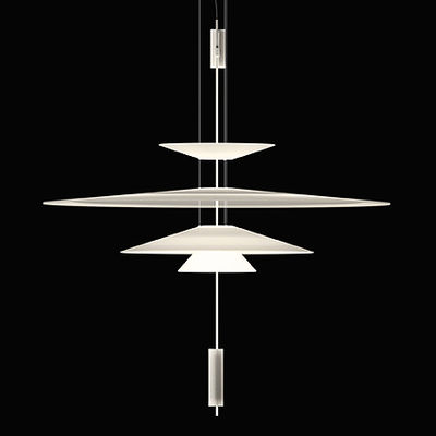 Luminaire - Suspensions - Suspension Flamingo LED / Ø 90 cm - Vibia - Blanc / Blanc - Acrylique, Métal, Méthacrylate