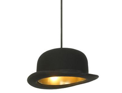 Luminaire - Suspensions - Suspension Jeeves / Chapeau melon - Innermost - Melon - Noir / int. Doré - Aluminium anodisé, Feutre de laine