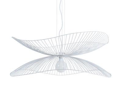 Luminaire - Suspensions - Suspension Libellule Large / Ø 100 x H 40 cm - Forestier - Blanc - Fils de fer laqués
