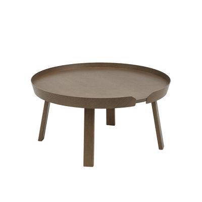 Table basse Around Large / Ø 72 x H 37,5 cm - Muuto bois naturel en bois
