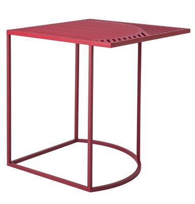 Table basse Iso-B / 46 x 46 x H 48 cm - Petite Friture rouge en métal