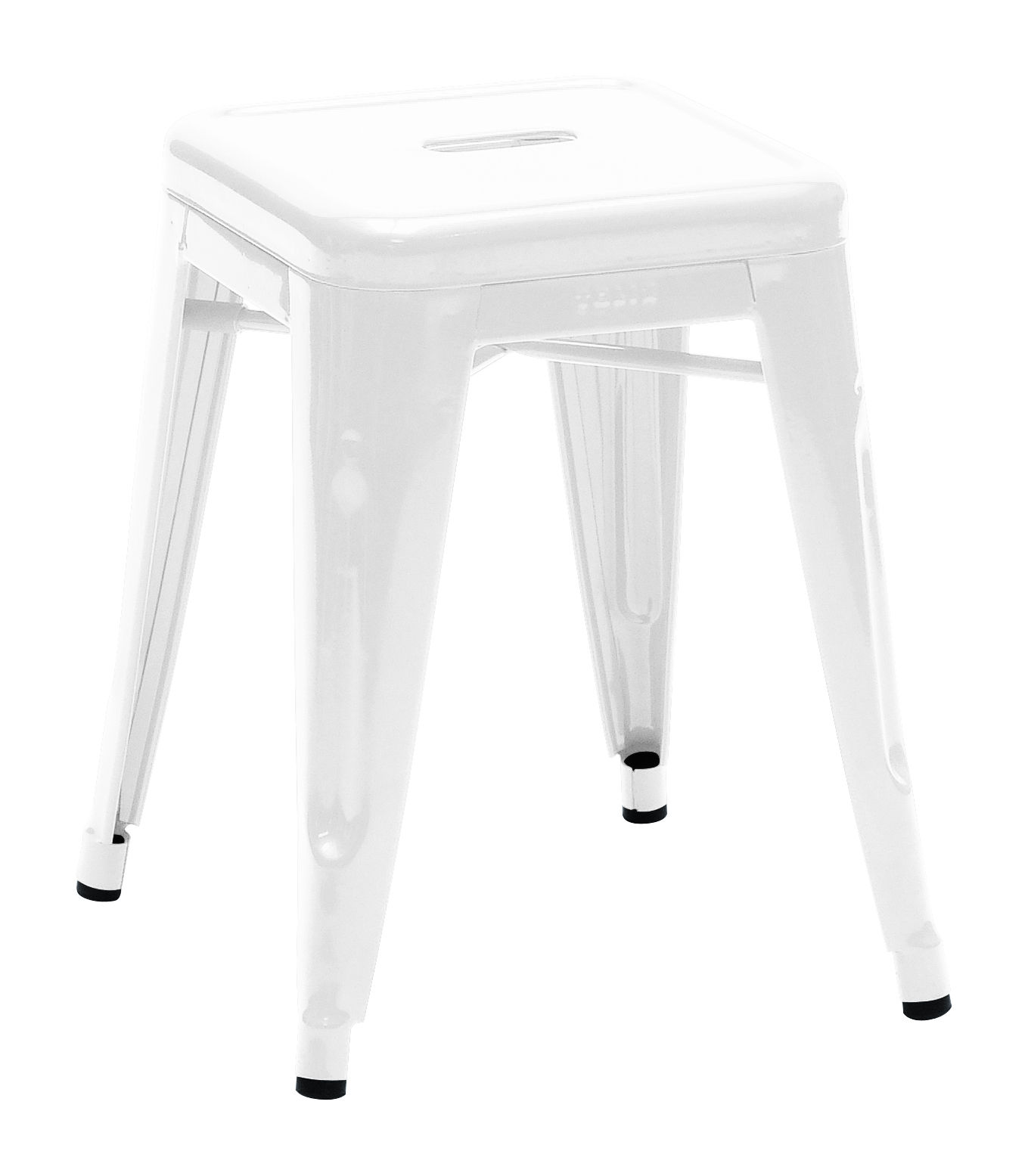Mobilier - Tabourets bas - Tabouret empilable H / H 45 cm - Couleur brillante - Intérieur - Tolix - Blanc - Acier recyclé laqué