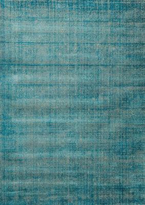 Interni - Tappeti - Tappeto Voyage / 200 x 300 cm - Tessuto a mano - Toulemonde Bochart - 200 x 300 cm / Turchese - Lana, Seta vegetale