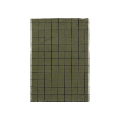 Torchon Hale / 50 x 70 cm - Ferm Living vert en tissu