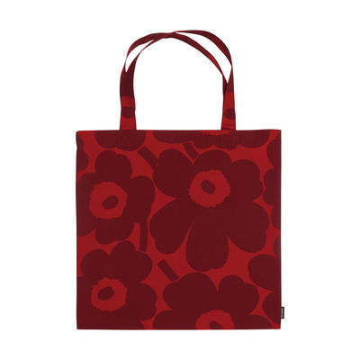 Accessoires - Sacs, trousses, porte-monnaie... - Tote bag Pieni Unikko / Coton - Marimekko - Pieni Unikko / Rouge - Coton