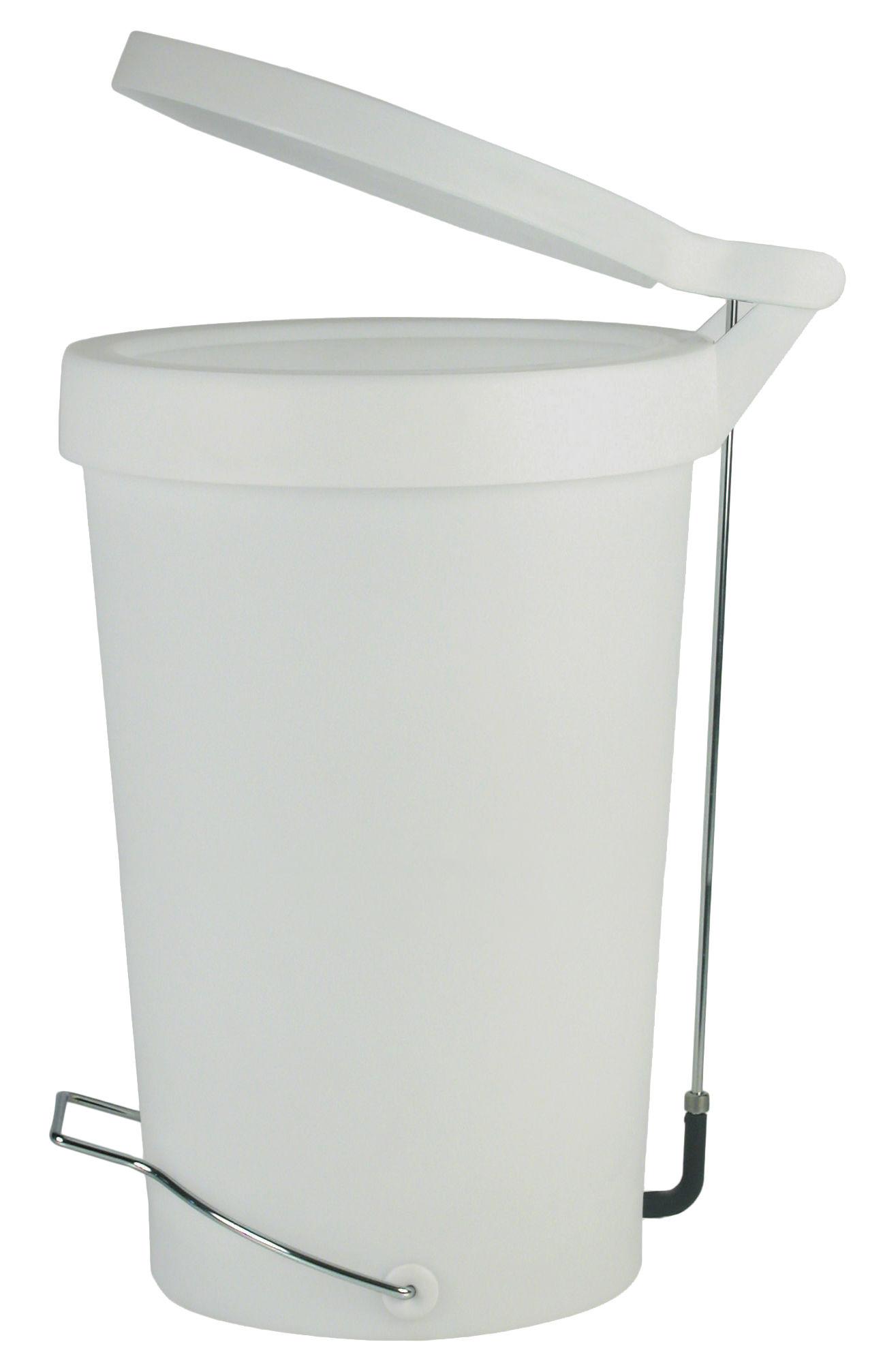 Küche - Mülleimer - Tip Treteimer 30 Liter - Treteimer - Authentics - Grau-weiß - Kautschuk, lackiertes Metall, Polypropylen