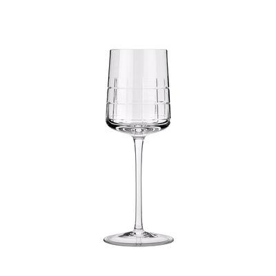 Verre à vin blanc Graphik / Cristal soufflé bouche - Christofle transparent en verre