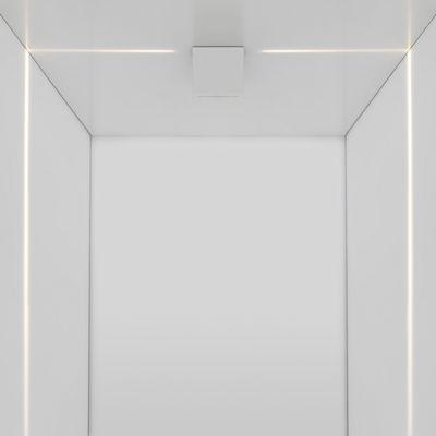 Applique Antarktikós LED / Plafonnier - Projection de Lumière blanche - Artemide blanc en métal