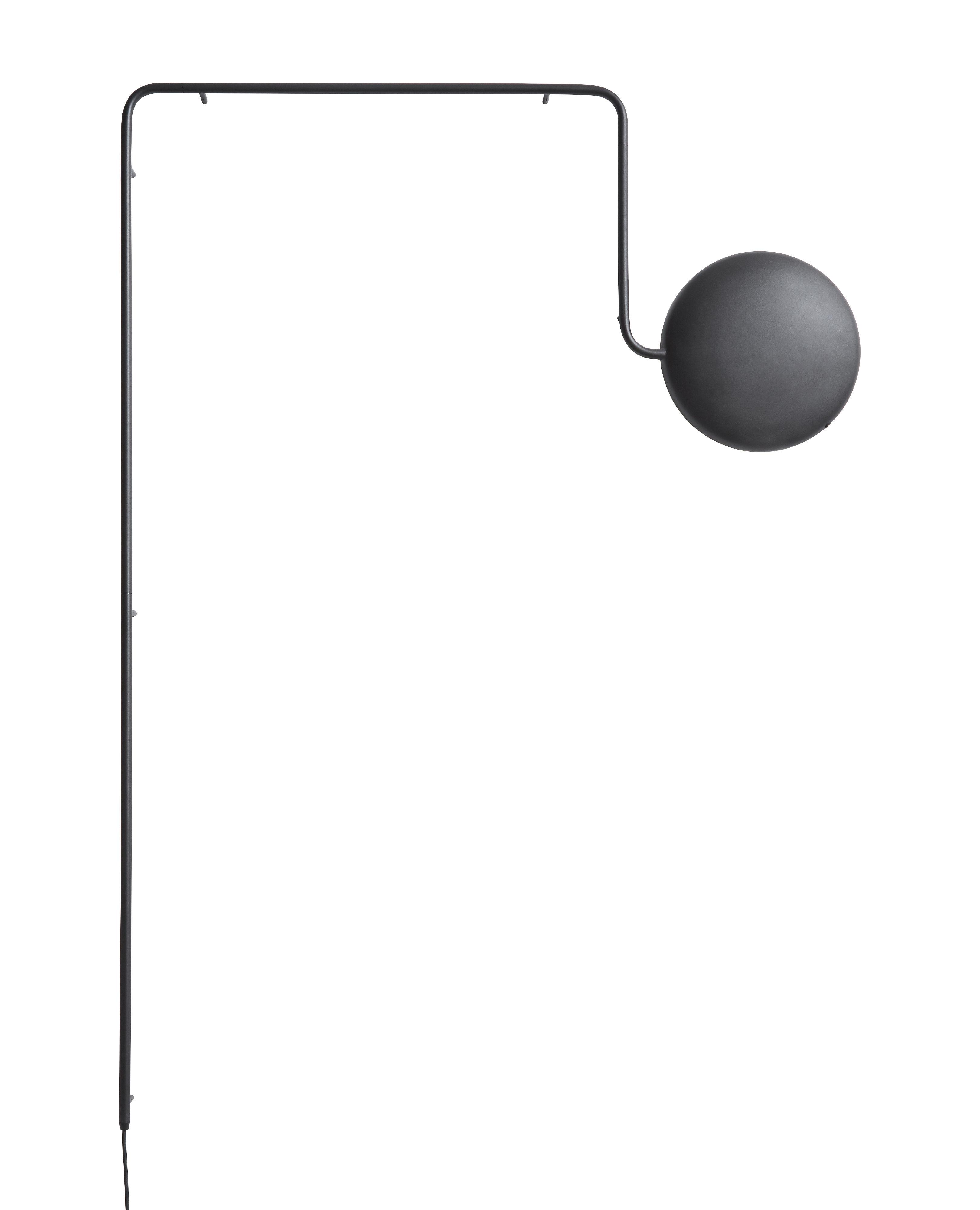 Luminaire - Appliques - Applique avec prise Mercury / LED - Métal - L 109 x H 152 cm - Woud - Noir - Métal laqué