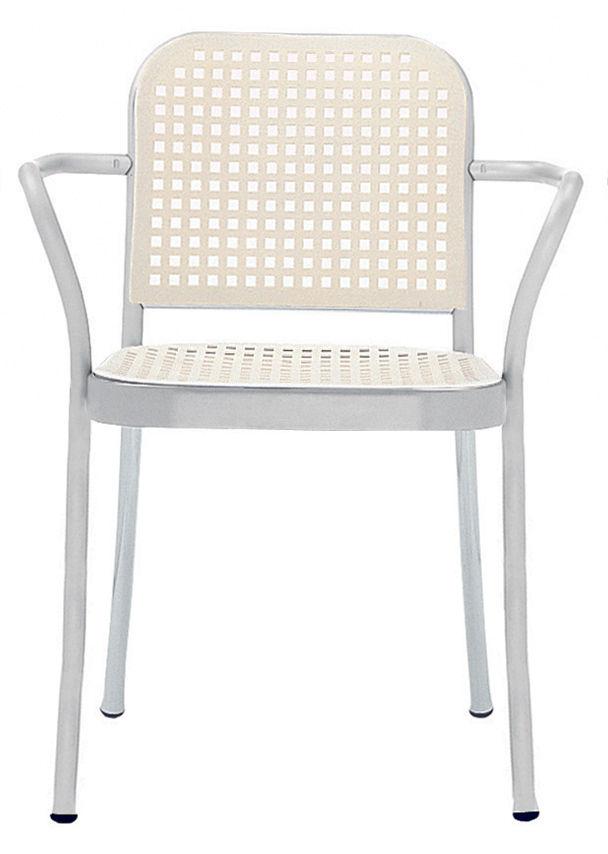 Furniture - Chairs - Silver Armchair - Aluminium & plastic by De Padova - Satined alu/ Blanc - Polypropylene, Satin aluminium