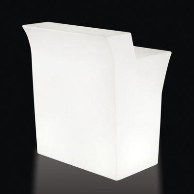 Mobilier - Mange-debout et bars - Bar lumineux Jumbo / L 90 cm - Slide - Blanc - Elément droit - Polyéthylène
