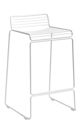 Furniture - Bar Stools - Hee Bar stool - / H 65 cm by Hay - White - Lacquered steel