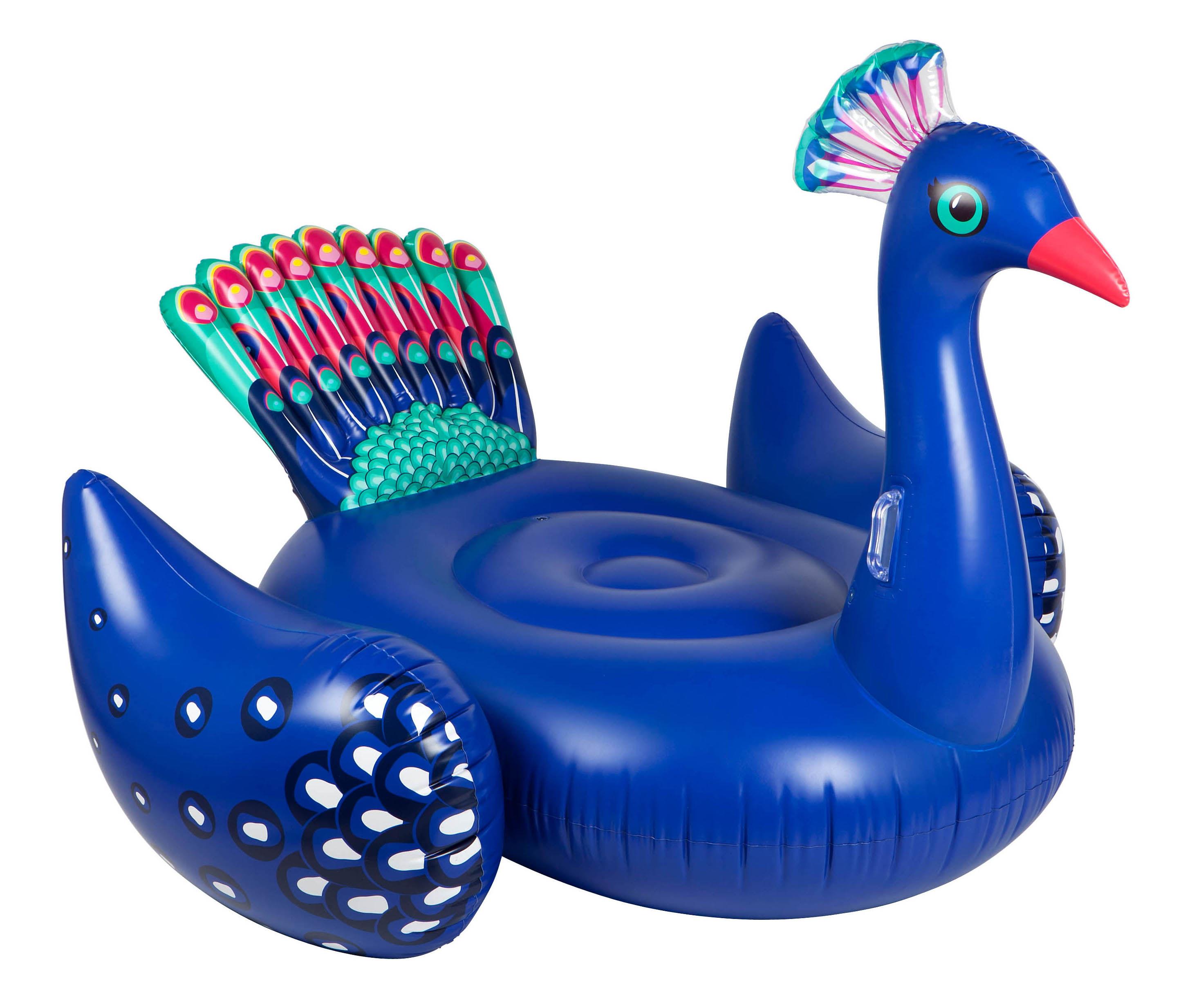 Déco - Pour les enfants - Bouée géante / Paon - Ø 130 cm - Sunnylife - Paon / Bleu - PVC haute résistance