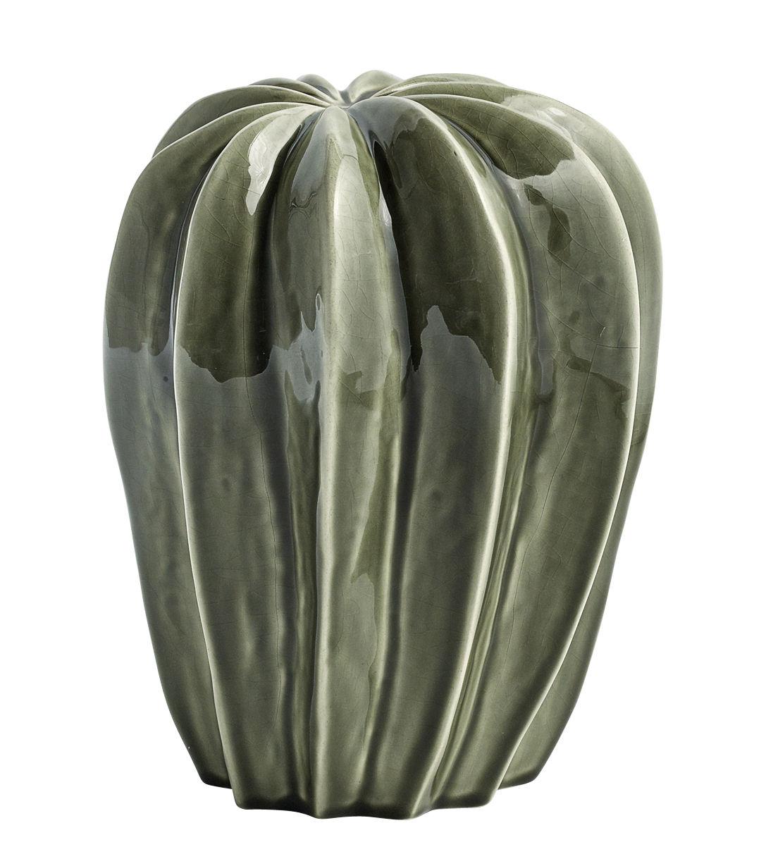 Déco - Objets déco et cadres-photos - Décoration Cacti Uno / Ø 19 x H 23 cm - Fait main - Hay - Vert / Modèle 1 - Céramique émaillée