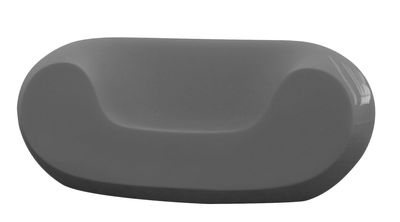 Fauteuil bas Chubby version laquée - Slide laqué gris en matière plastique