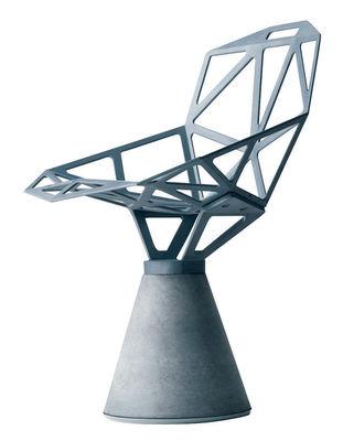 Mobilier - Chaises, fauteuils de salle à manger - Fauteuil Chair one B / Alu poli & base béton - Magis - Alu poli - Aluminium, Béton