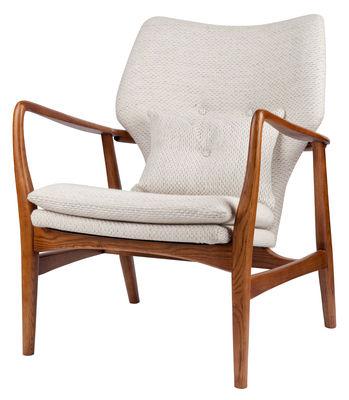 Peggy Gepolsterter Sessel / Stoff & Holz - Pols Potten - Beige,Holz natur