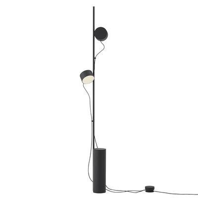 Lampadaire Post / LED - 2 spots aimantés orientables - Muuto noir en métal
