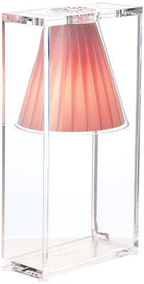 Lampe de table Light-Air / Abat-jour tissu - Kartell rose en matière plastique/tissu