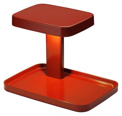 Lampe de table Piani LED / Vide-poche - Flos rouge en matière plastique
