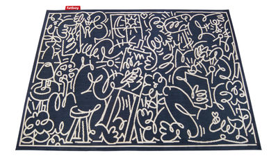 Decoration - Rugs - Carpet Diem Outdoor rug - / 160 x 230 cm by Fatboy - Blue - Polypropylène tissé