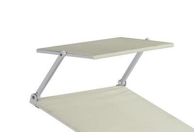 Image of Parasole - per sedia a sdraio Holly di Emu - Bianco,Alluminio - Tessuto