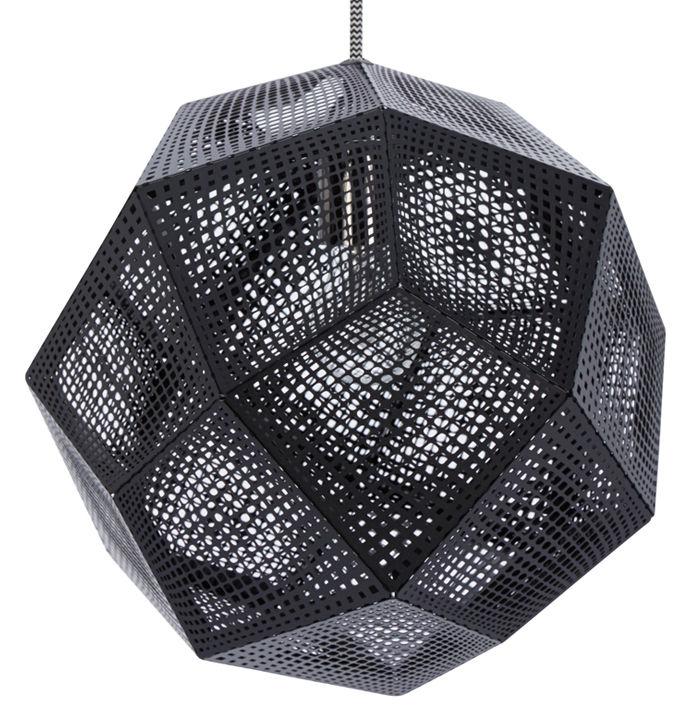 Leuchten - Pendelleuchten - Etch Shade Pendelleuchte - Tom Dixon - Schwarz - rostfreier lackierter Stahl